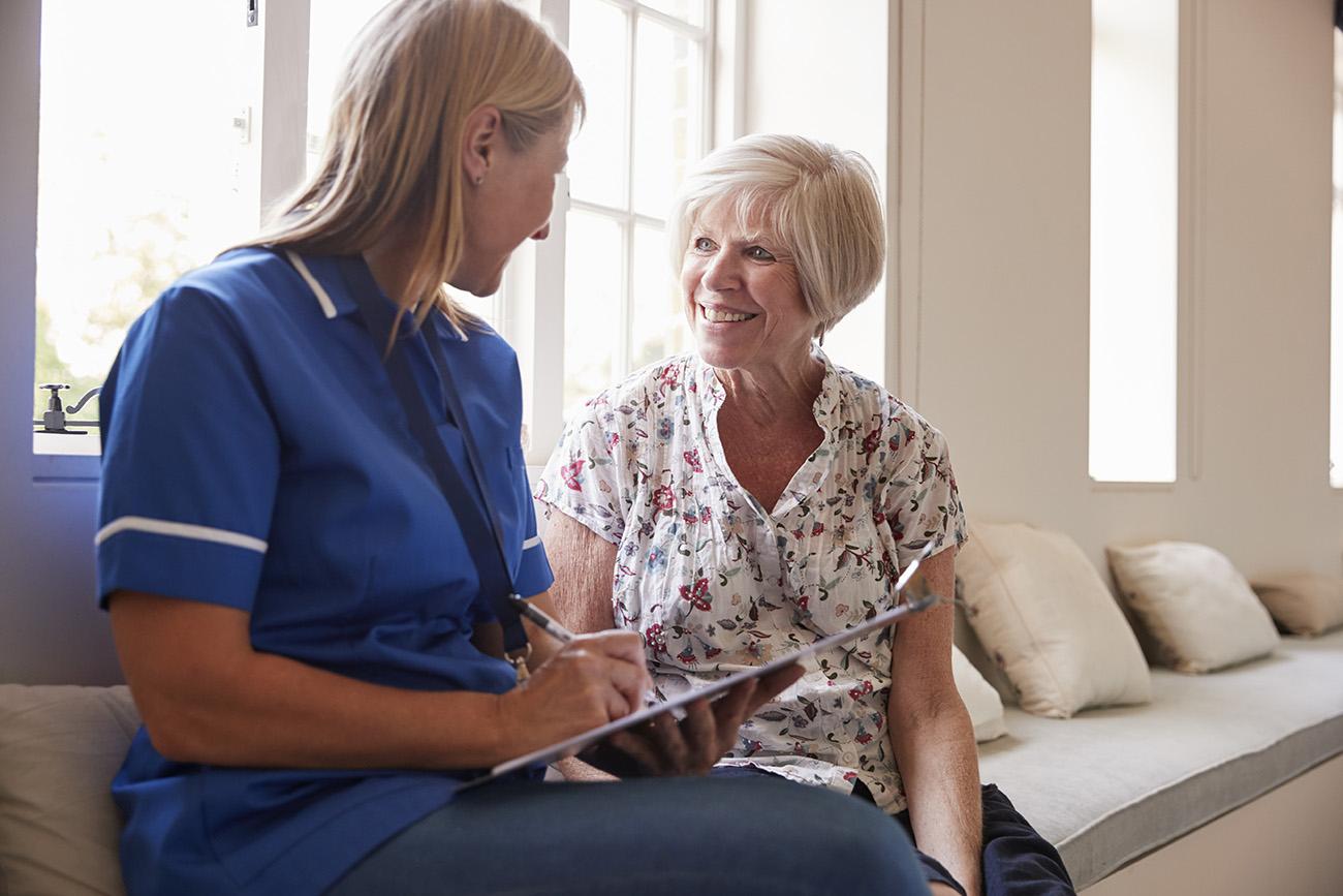 patient and nurse photo